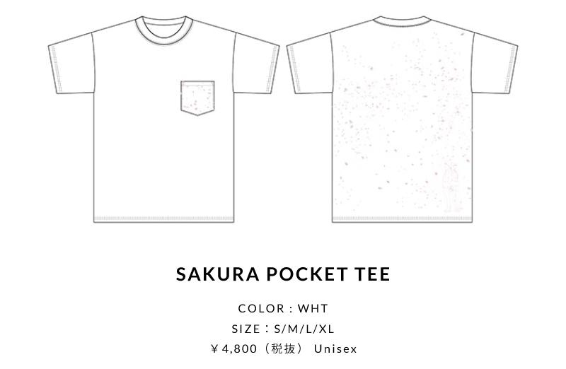 SAKURA POCKET TEE