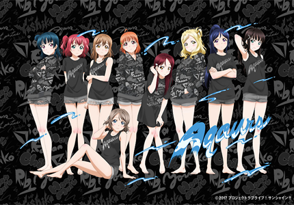 R4G×『ラブライブ!サンシャイン!!』新ビジュアル解禁!! 描き下ろしイラスト Aqours BLACKバージョンが登場!