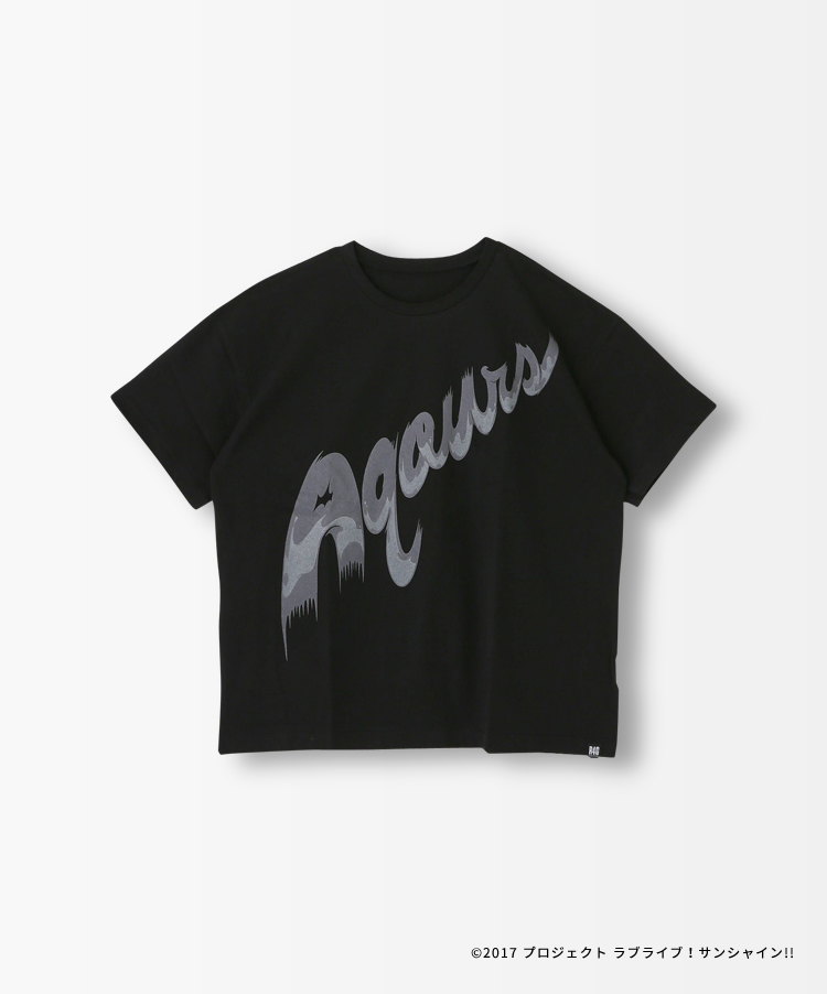 Aqours LOGO BLACK TEE