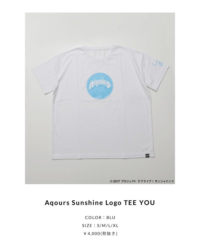 Aqours Sunshine Logo TEE YOU