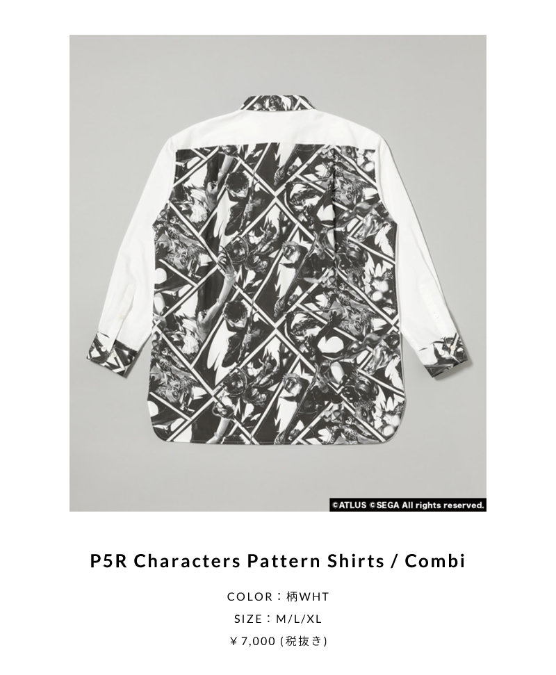 P5R Characters Pattern Shirts / Combi