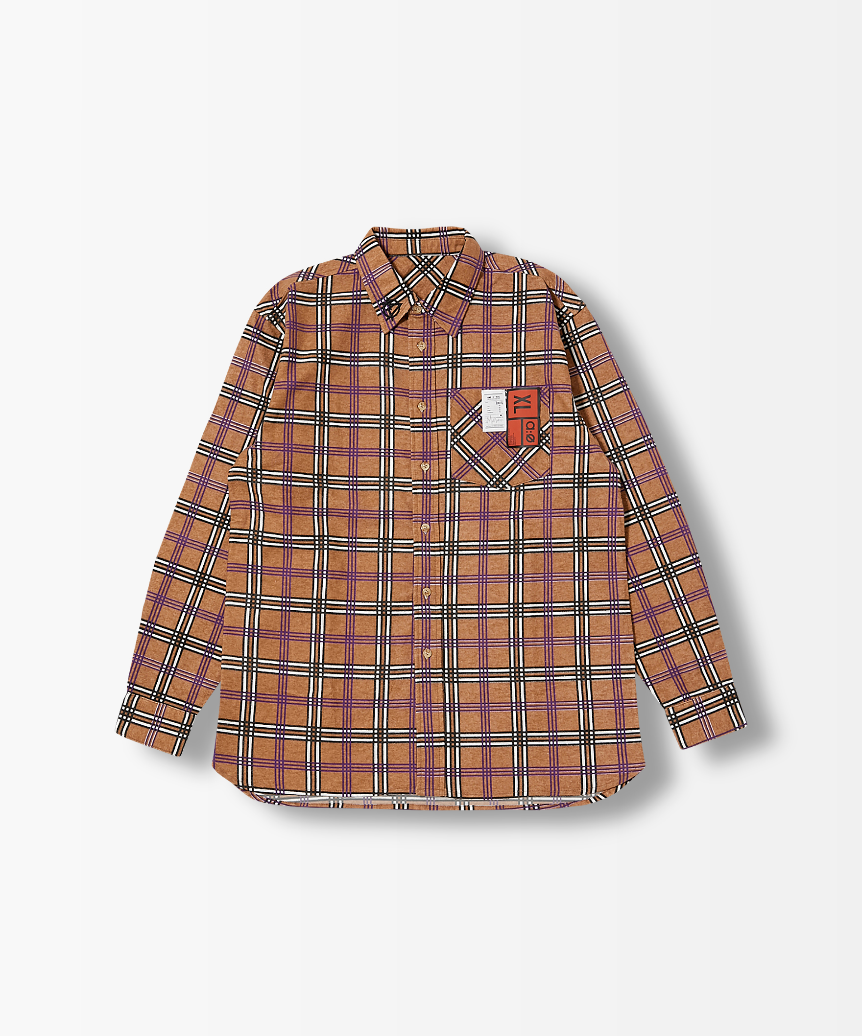 OVER SIZE CHECK SHIRT